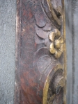 detail - carved walnut and parcel-gilt