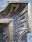 the angle detail - carved walnut and parcel-gilt