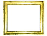 simple profile frame, Italy, 19th century, gold leaf, red bole