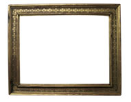 cassetta frame with punched floreal decoration, Italy, 16th cent., gold leaf, red bole