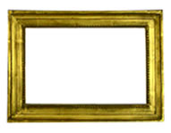 simple profile reproduction frame with pearls, Italy, 19th. cent., red bole