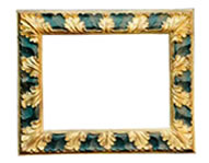 profileframe with gilded/black acanthus leaf, 17th cent., gold leaf, red bole