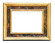 gilded cassetta frame with tempera, Italy, 18th cent., brown bole