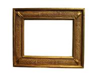 cassetta frame with pastiglia, Venice, 15th cent., gold leaf, brown bole