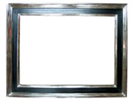 modern cassetta frame, white-gilded and tempera