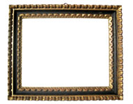 black gilded profile frame, Italy, 18th cent., brown bole