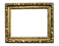 carved frame, French, 18th cent., red bole