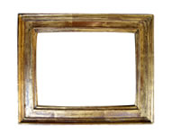 simple cassetta frame, Italy, 17th cent., brown bole