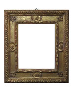 carved and punched cassetta frame, Emilia, 18th cent., gold leaf, orange bole